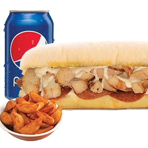 Ranch Chicken Pepperoni Sandwich Combo Image