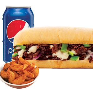 Philly Cheese Steak Sandwich Combo Image